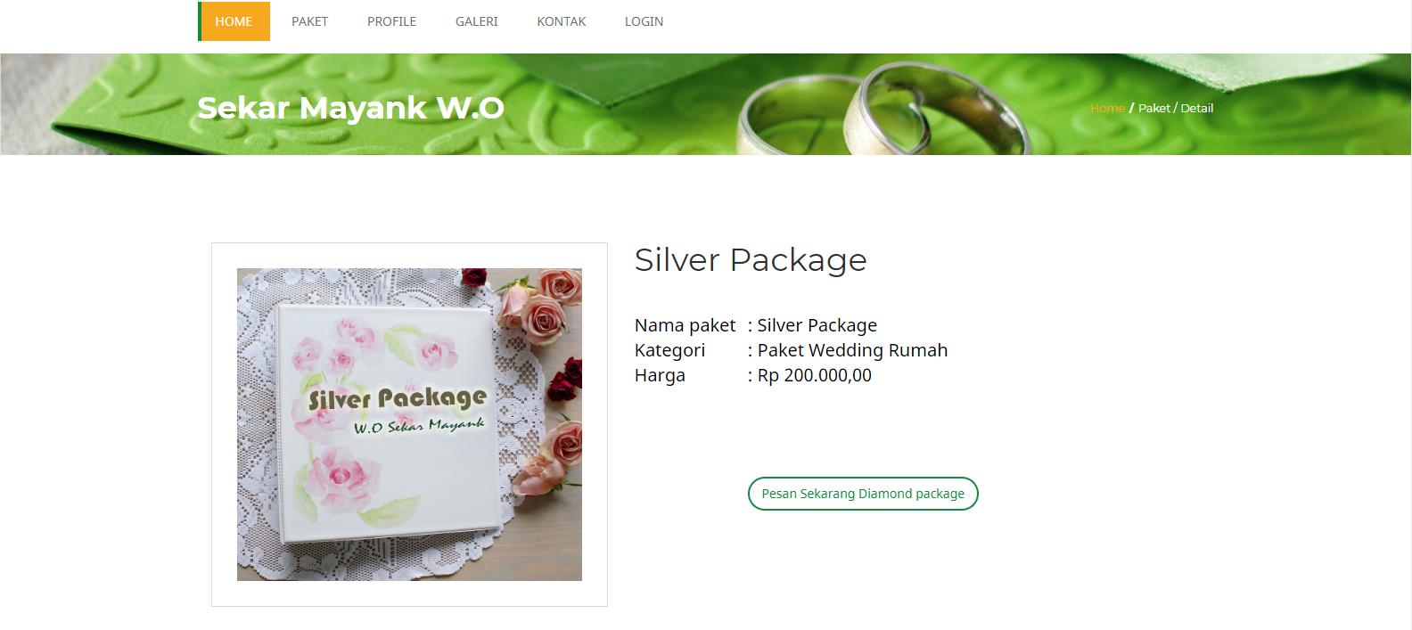Sistem Informasi Pemesanan Paket Pernikahan (Sekar Mayank Wedding Organizer)