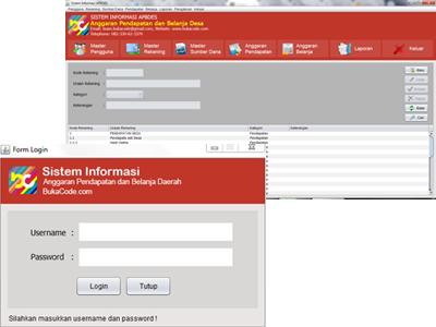 Aplikasi APBDS (Anggaran Pendapatan Belanja Daerah) Dekstop Java Netbeans